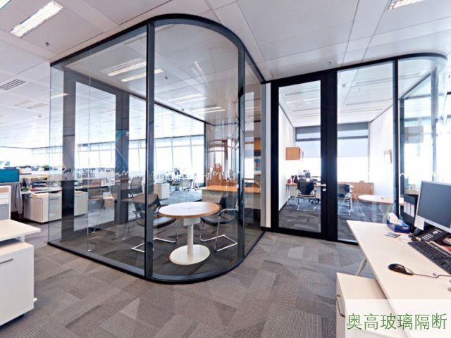 办公室接待区玻璃隔断