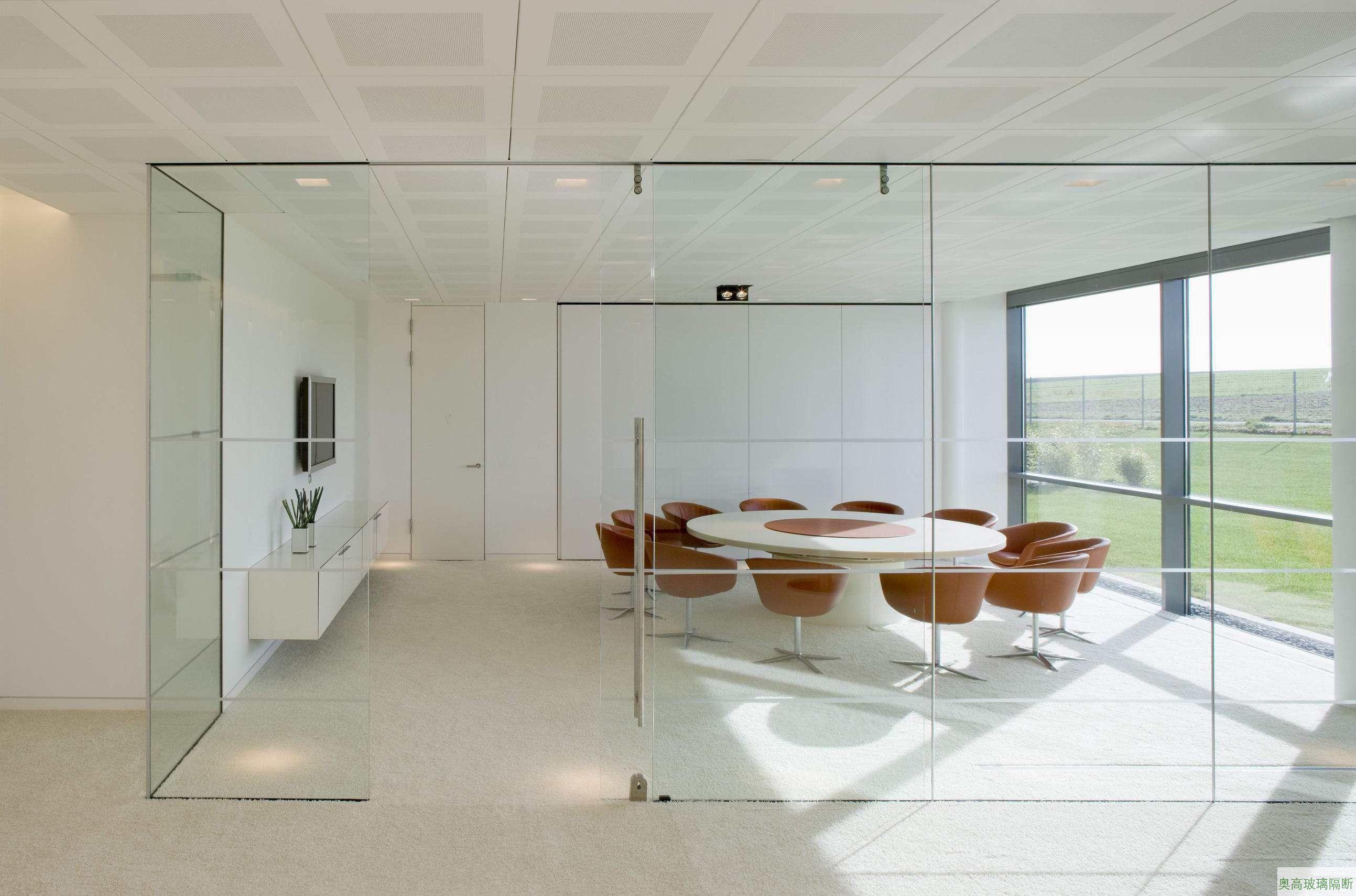 单层透明玻璃洽谈室